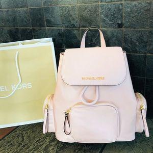 $348 Michael Kors Abbey Cargo Backpack MK Handbag